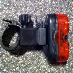 Astrum rear light on mount
